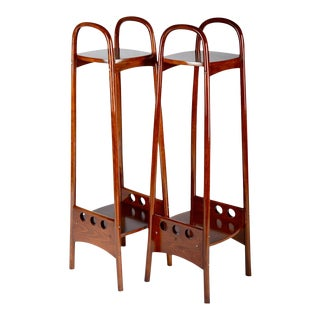 Beechwood Flower Stand by Thonet, 1905 - A Pair
