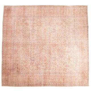 Vintage Distressed Oushak Carpet- 10′ × 10′6″