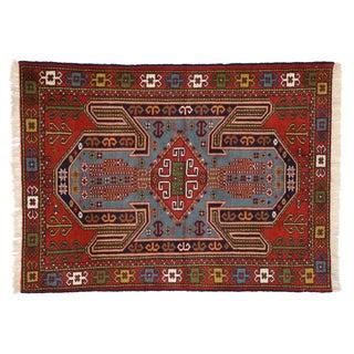 "Persian Shiraz Tribal Rug - 4'2"" x 5'7"""