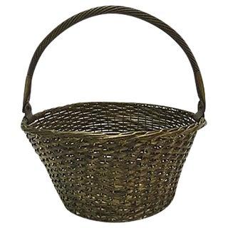 Woven Brass Basket