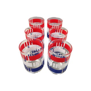 Red, White & Blue Tumblers - Set of 6