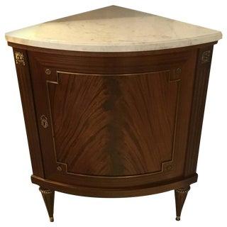 Jansen Louis XVI Style Demi-Lune Corner Cabinet