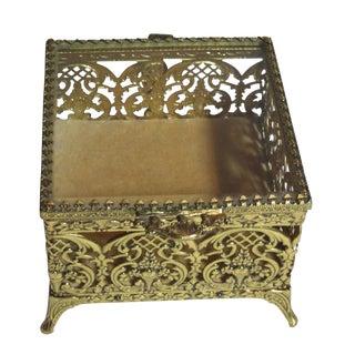 Hollywood Regency Square Trinket Box