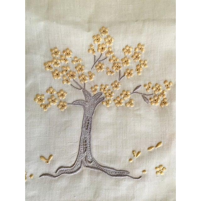 Vintage Embroidered Tree Tea Towel - Image 5 of 10