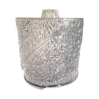 Clear Vintage Ice Bucket