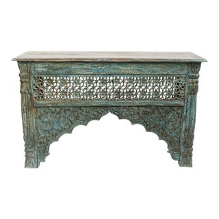 Architectural Carved Console Table