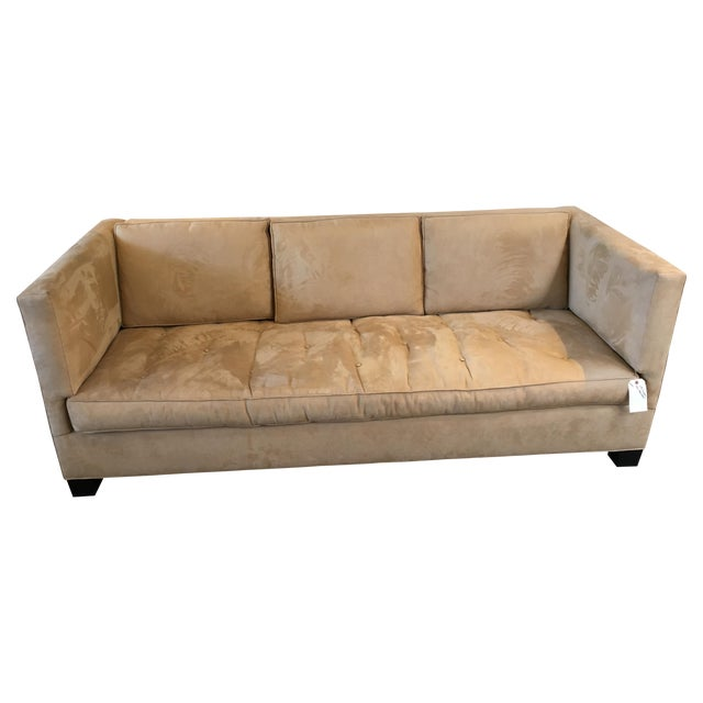 Williams Sonoma Home Wilshire Camel Sofa Chairish