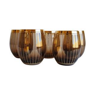 Gold Stripe Tumblers - Set of 5