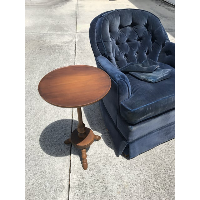 Ethan Allen Blue Tufted Chair - Image 4 of 7