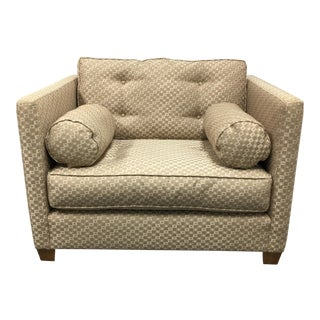 Crate & Barrel Custom Arm Chair With Bolsters