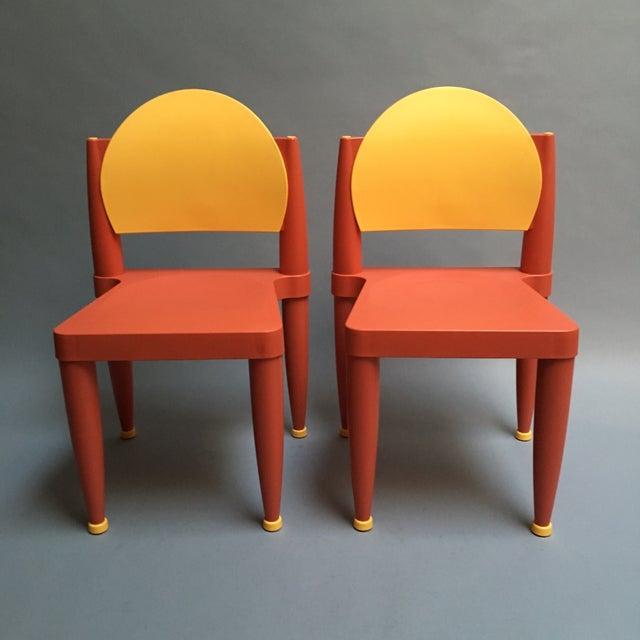 Image of Curver Side Chairs by Volker Hundertmark - Pair
