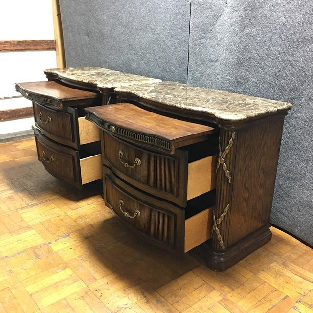 Philippe Langdon Marble Top Nightstands - Image 4 of 11
