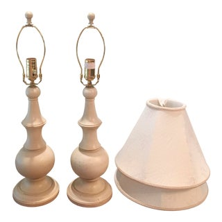 Ethan Allen Shabby Chic Table Lamps - A Pair