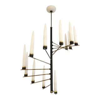 Spiral Chandelier Attributed to Arredoluce, Italy 1960's
