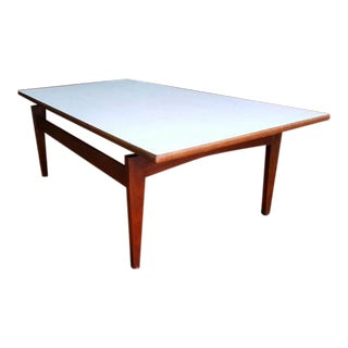 Jens Risom Floating Top Mid-Century Teak Coffee Table