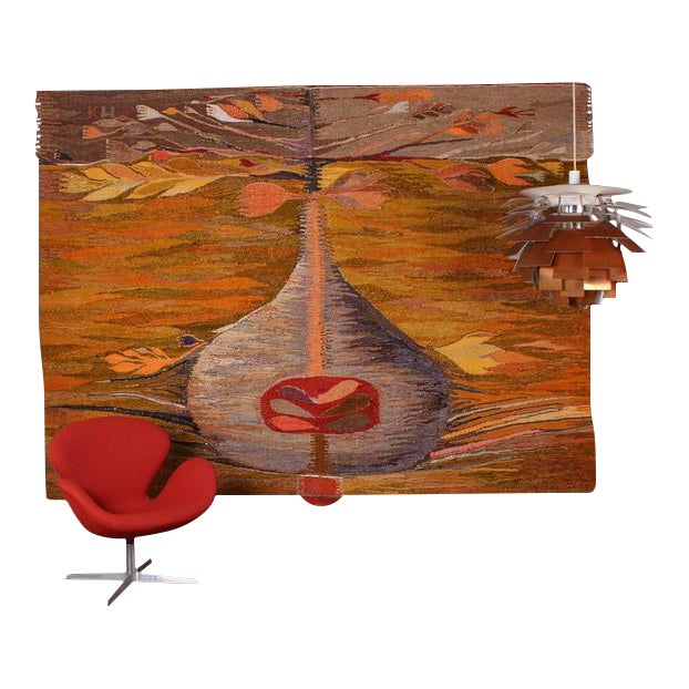 """Large Tapestry by Krystyna Wojtyna-Drouet Titled """"Fruit"""" - Image 1 of 10"""