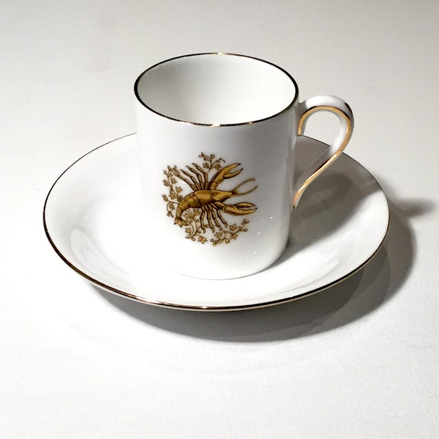 Tuscan English China Gold Lobster Demitasse Cup & Saucer - Image 2 of 6