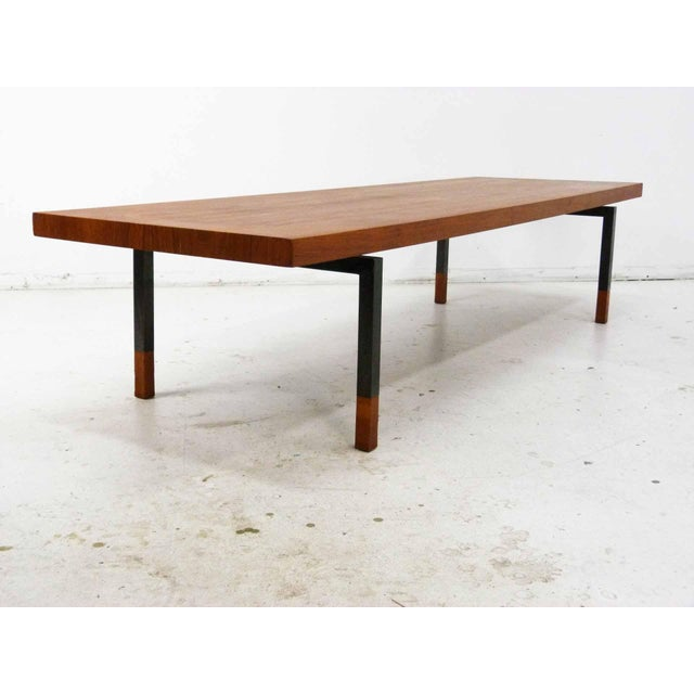Teak & Steel Coffee Table by Johannes Aasbjerg for Illums Bolighus - Image 5 of 8