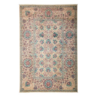 "Suzani, Hand Knotted Area Rug - 6' 1"" X 8' 10"""