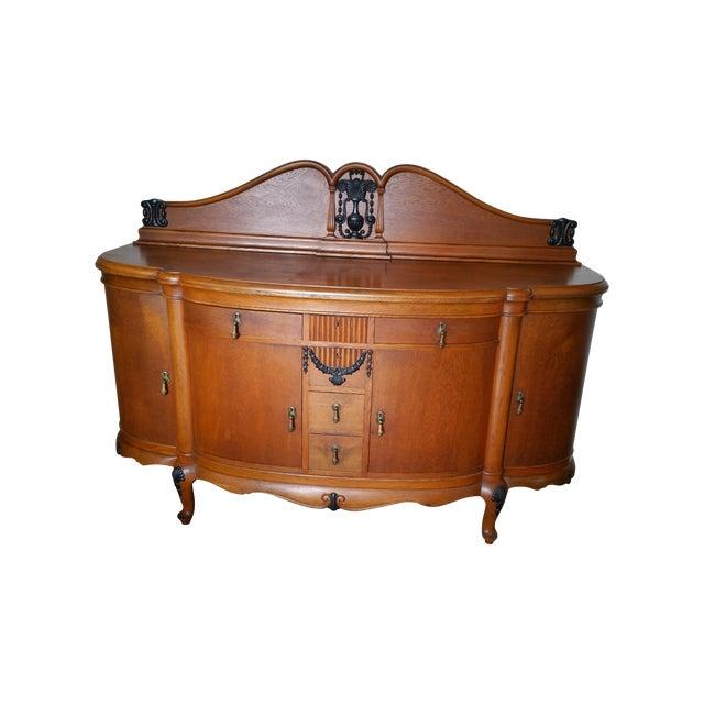 1920s English Oak Buffet - Image 1 of 5