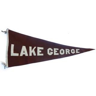 1920s Lake George Tourist Pennant
