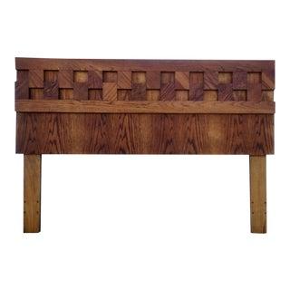 Vintage Wooden Cube Headboard