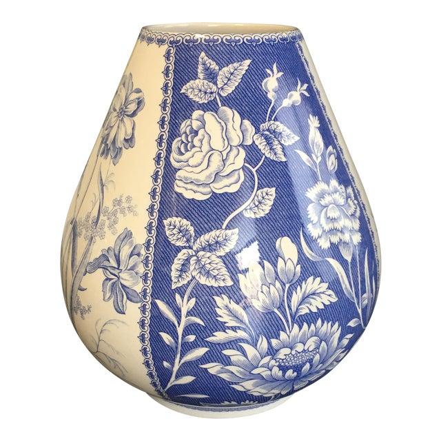Spode Blue & White Vase - Image 1 of 4