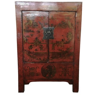 Vintage Red Asian Chest