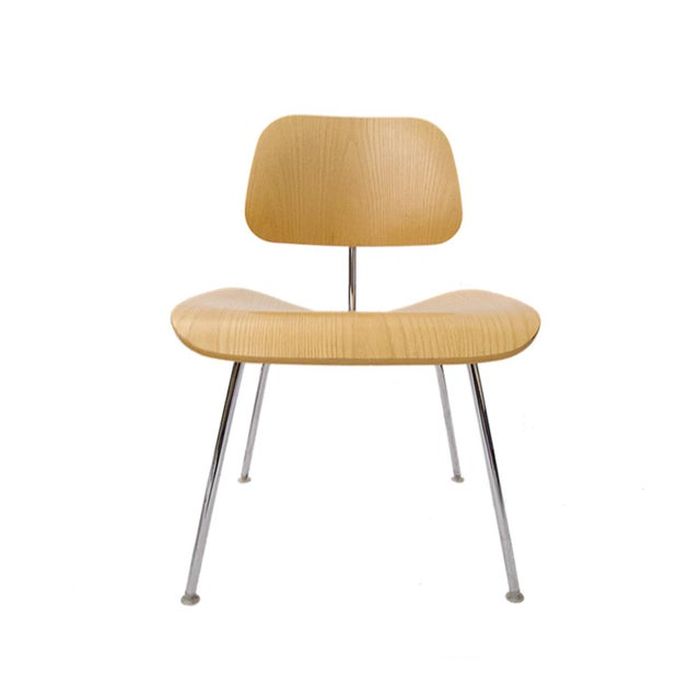 """Charles Eames """"DCM"""" Chairs for Herman Miller in White Ash - Set of 6 - Image 2 of 7"""