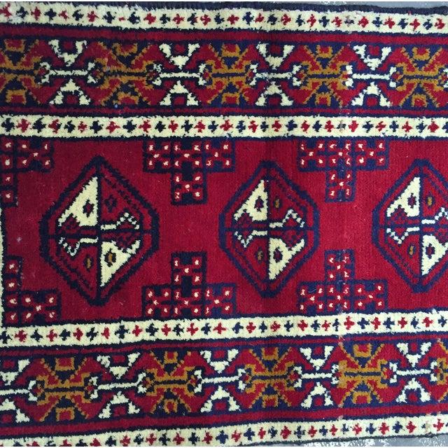Turkaman Handmade Persian Rug - 1′8″ × 2′11″ - Image 4 of 11
