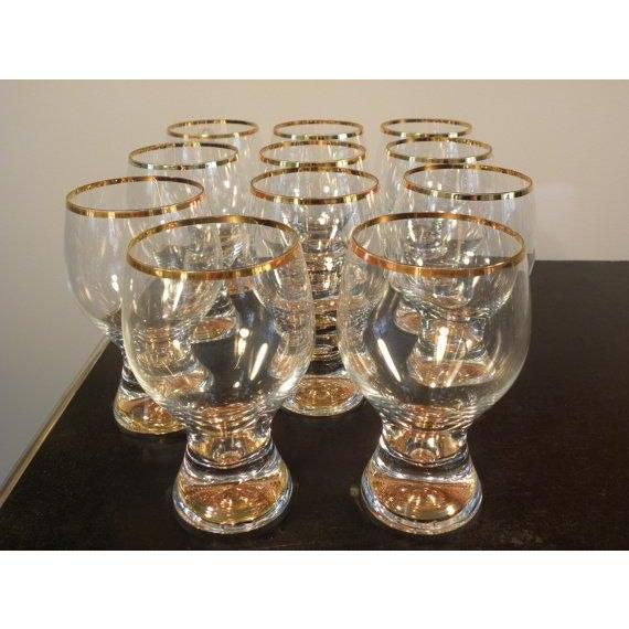 Vintage Bohemian Pedestal Glasses - Set of 11 - Image 3 of 5