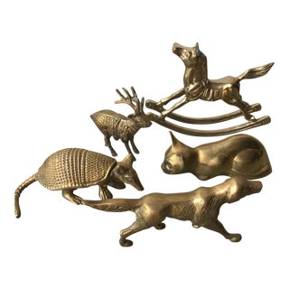 Brass Animals - Set of 5