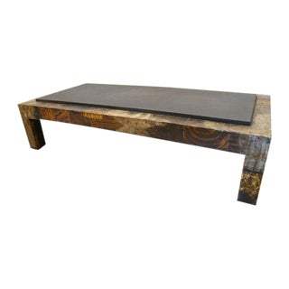 Paul Evans Metal & Slate Mid-Century Modern Coffee Table