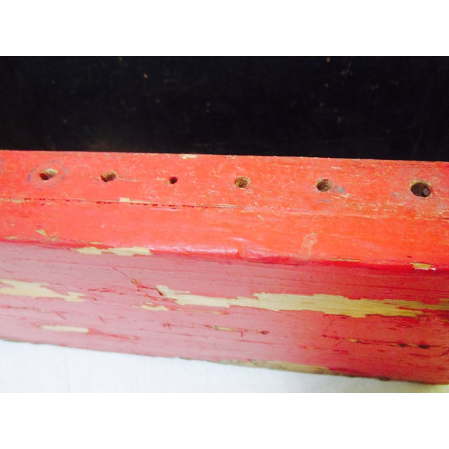 Rustic Red Tool Box Carrier Caddy - Image 6 of 7