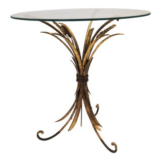 "Italian Gold Leaf ""Wheat Sheaf"" Table"