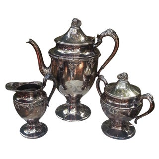 Silver Plated Coffee Set - Set of 4