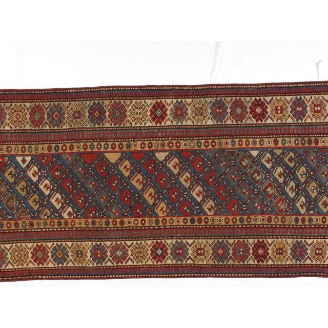 Antique Wool Kazak Runner - 3′9″ × 10′ - Image 2 of 3