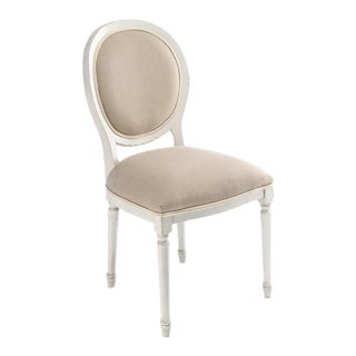 Sarried Ltd Round Back Stucco Flax Side Chair