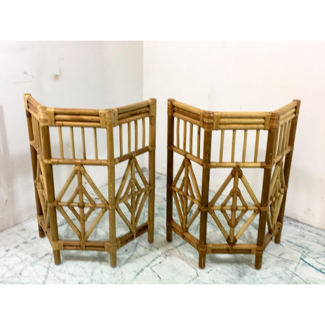 Pair of Rattan Consoles or Center Table - Image 5 of 5