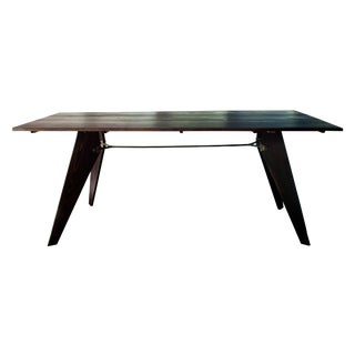 Mid-Century Black Dining Utility Table