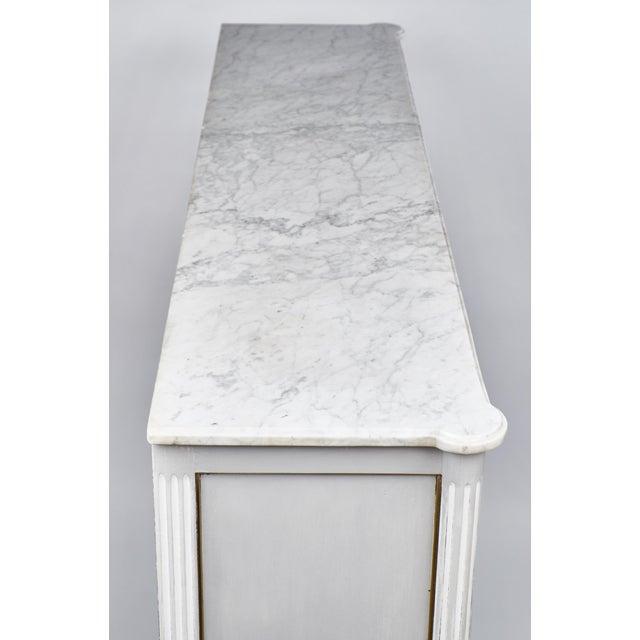 19th Century Louis XVI Marble-Top Vitrine - Image 6 of 10