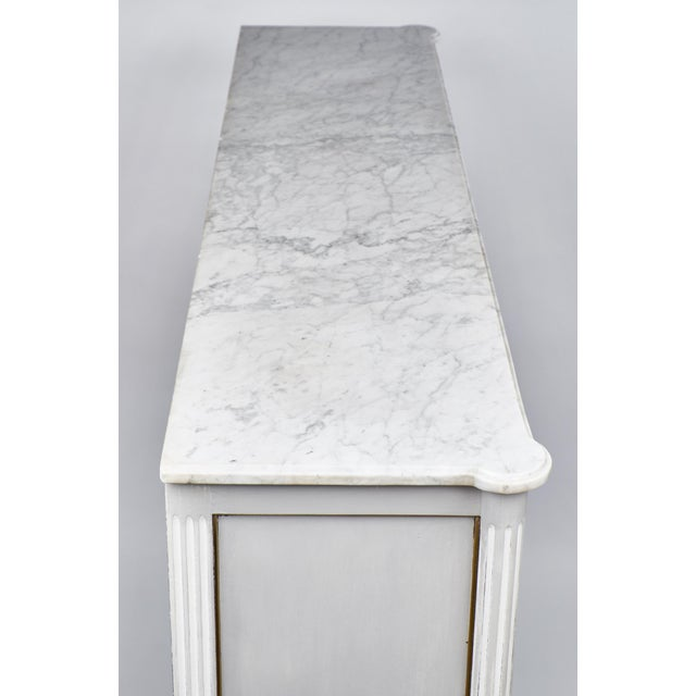 Image of 19th Century Louis XVI Marble-Top Vitrine