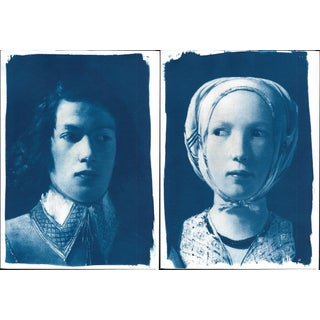 Cyanotype Prints From De La Tour - Pair