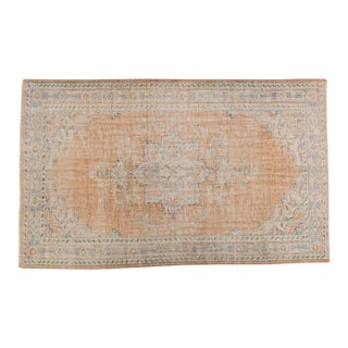 Vintage Distressed Oushak Carpet - 6' x 10'