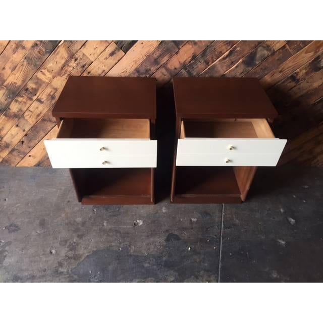 Mid-Century Walnut Nightstands - A Pair - Image 6 of 6