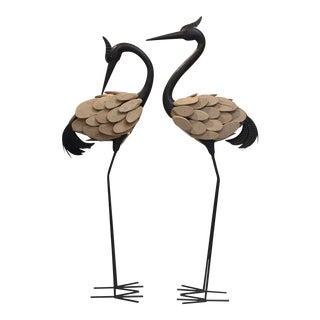 Contemporary, Asian Cranes - A Pair