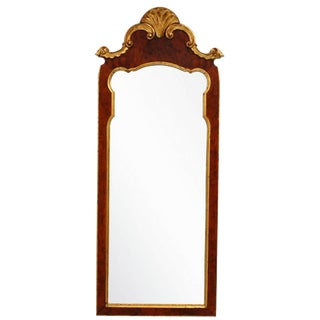 Vintage French Burlwood Mirror by LaBarge