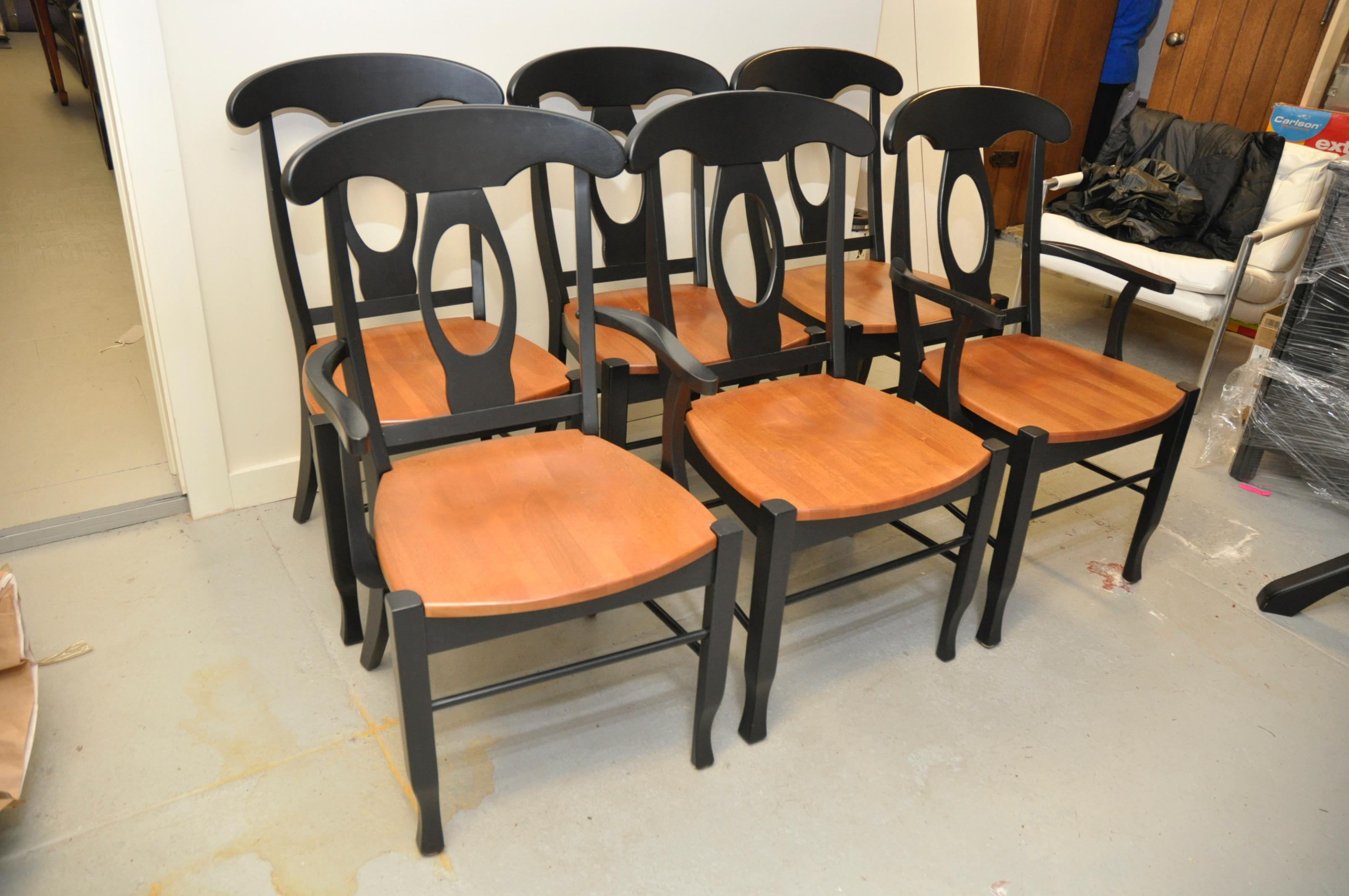 shermag napoleon dining chairs set of 6 chairish