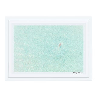 "Gray Malin ""Girl in Pink, Bora Bora"" (à La Plage) Framed Print"