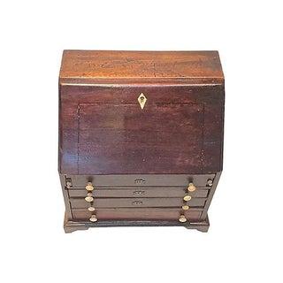 Antique Miniature Secretary Jewelry Box